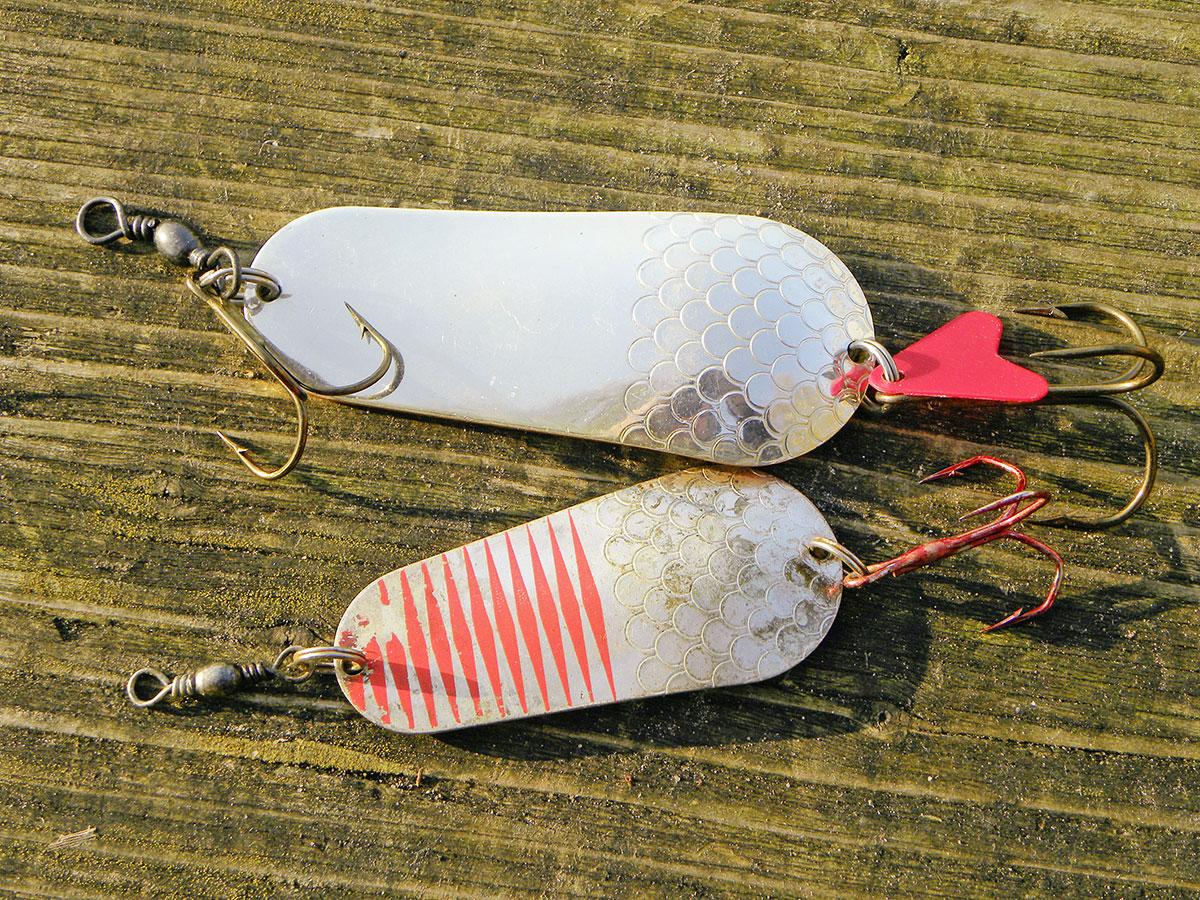 Mepps Aglia TW mit Fisch silber /& rot Spinner mit Gummifisch Hecht Barsch Raubfi