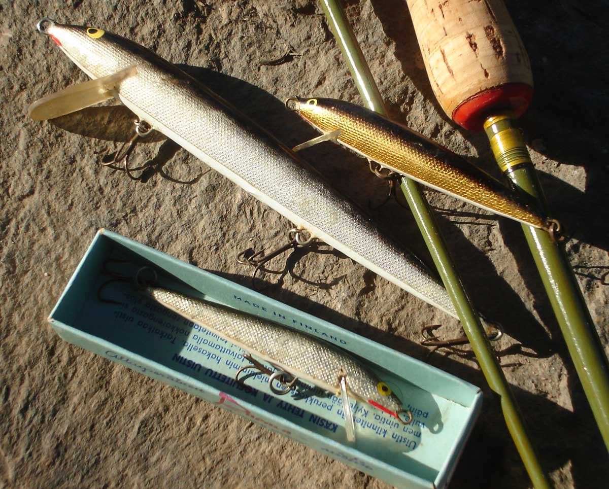 Die frühen Rapalas waren mit glitzerndem Schokoladenpapier beklebt.