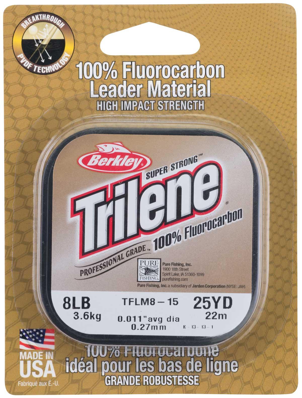 Die erste Wahl: Trilene Fluorocarbon Vorfach-Material.